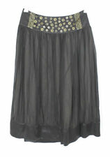 Knee-Length Chiffon A-Line Solid Skirts for Women