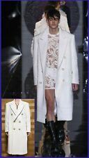 $9,475 NEW VERSACE WHITE CASHMERE EMBELLISHED COAT 54 - 44 AS SEEN ON STEPHEN