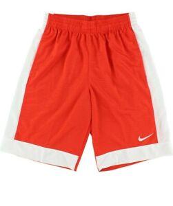 Nike Mens Large Athletic Fastbreak Shorts 641421-891 Basketball Orange Pocket