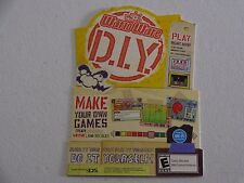 WARIO WARE D.I.Y. MAKE OUR OWN GAMES STORE DISPLAY PROMO SHEILF CARD