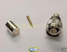 20 Silver N Male Crimp Coax Connector LMR400 LMR-400 Belden 9913 RG8 RG213