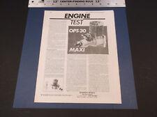 VINTAGE OPS 30 MAXI R/C PLANE ENGINE TEST BY MIKE BILLINGTON SHAMROCK  *G-COND*