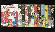 Twelve Color By Number Ali Baba Aladdin Snow White Cinderella Etc Vintage