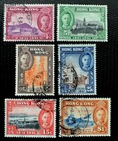 Hong Kong Stamps SC #168-173 Full Set Used
