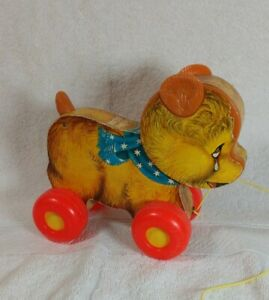 Vintage Fisher-Price Cry Baby Bear Pull Toy
