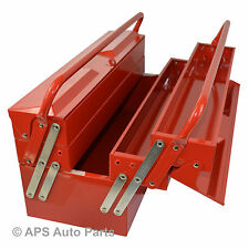 "19.5"" 5 Tray Metal Storage Cantilever Tool Box Mechanic Garage Cabinet Tray DIY"