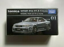 Takara Tomy Nismo R34 GT-R Z-Tune Silver Tomica PREMIUM #01 TOMICA FACTORY SEAL!
