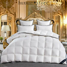 100% Goose Down White Comforter Bedding Set Bedspread Duvet Throw Blanket Quilt