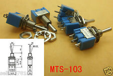 100 PCS Toggle Switch 3-pin rows MTS-103 power supply (ON)-OFF-(ON) Solder Lug