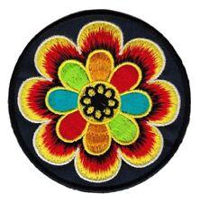 bf88 Hindu Buddha Esoterik Blume Yoga Om Aufnäher Bügelbild Applikation 8 x 8 cm