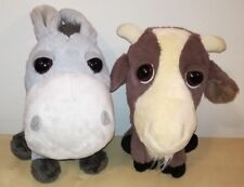 Peluche Amici della fattoria pupazzi coop capra + asino animal plush soft toys