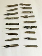 Vintage Lot 18 Various Pen Nibs - Various Brands Sized Points
