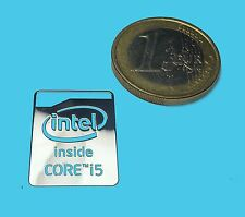 INTEL CORE i5 METALISSED CHROME EFFECT STICKER LOGO AUFKLEBER 16x21mm [529]
