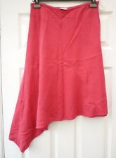 NEXT Ladies Size 10 12 W28 Pink Boho Summer Casual Asymmetric Linen Blend Skirt