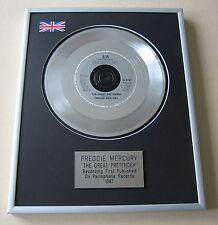 Queen FREDDIE MERCURY The Great Pretender PLATINUM SINGLE DISC PRESENTATION