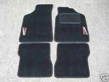 Fußmatten schwarz passend für Peugeot 106+106 Rallye (Alt Stil) Logo