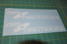 Air Nautique WHITE DI-CUT STICKER NAUTIQUE DECAL wakeboard