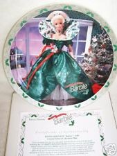 "New Barbie Plate ""Happy Holidays Barbie 1995"" 143154!"