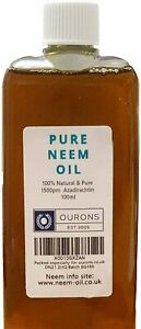 100ml Neem Oil - Ideal to make a quality neem Spray - Natural Organic Garden Use
