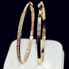 ! NiX 1272 Valentine Gift Gold Plated Big Gold Women Bali Hanging Hoop Earrings