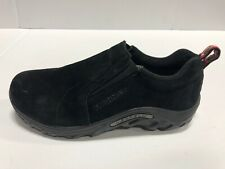 Merrell Jungle Moc Slip On Casual Shoes, Black Suede, Boy's Size 4.5 Wide