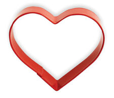 Eddingtons Red Heart Shaped Cookie Cutter - Pastry and Biscuit Cutter Metal 10cm