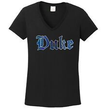 Women's Duke Blue Devils  spangle t shirt faux rhinestone lots of sparkle