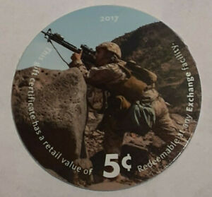 16A5   AAFES Pog  2017 U.S. ARMY Money About Uncirculation