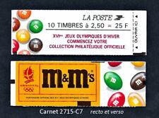 """Carnet dit """"Fermé"""" 2715-C7 - Publicité M&M's - Sans numéro de configuration"""