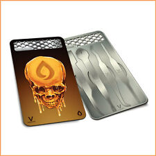 Dabit Card by V Syndicate Head Oil Design Herb Grinder Card Dab Magnetic Tools