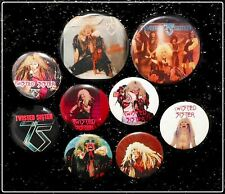 Twisted Sister Lot Of 9 80's Original Buttons Pins Badges Dee Snider