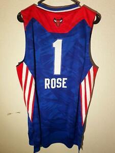 ADIDAS SWINGMAN CHICAGO BULLS DERRICK ROSE 2013 EAST ALLSTAR JERSEY SIZE M