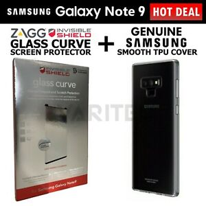 Zagg Note9 Glass Screen Protector + Samsung Smooth Cover Case for Galaxy Note 9