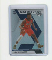 2019/20 Mosaic NBA Debut Silver Prizm Zion Williamson Parallel Rookie Card #269
