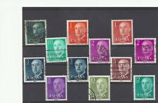 SPAIN ESPAGNE mix defs Franco 1955 – 1975 with different colors used