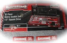 "new - (SCMT14210) Sidchrome 33 Piece 1/2"" Drive Socket Set - Metric"