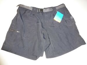 New Columbia Sandy River Shorts Women's Black Cargo NWT - Size L