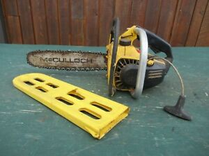 "Vintage McCULLOCH MAC 110 Chainsaw Chain Saw with 11"" Bar"