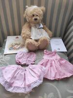 Alice's Bear Shop Sandy Teddy Bear By Charlie Bears ABS186009 with book