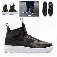 NUOVO Con Scatola Da Uomo UK 7.5 ~ Nike AF1 Ultra Mid Scarpe da ginnastica Scarpe da ginnastica Air Force One 864014-001