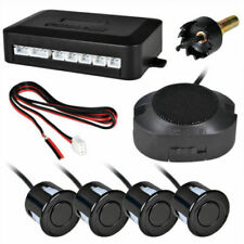 Universal Car Rear Reversing Parking Sensors 4 Sensor Kit Rear Warning Set Black