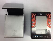 Max Pro ION DECK BOX - METALLIC - TITANIUM WHITE -for Magic MTG YuGiOh! Pokemon