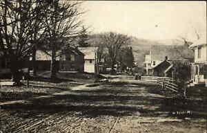 South Strafford VT Road Scene Bldgs c1915 Real Photo Postcard