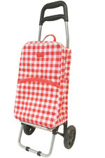 Sachi Shopping Trolly - Rolling Cart With Removable, Insullated Bag | Gingham