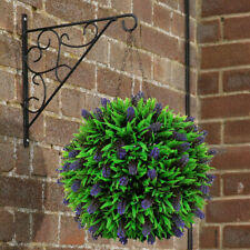 Artificial Lavender Topiary Ball Flower Plant Basket Home Hanging Decor Pretty