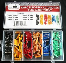 120pc GOLIATH INDUSTRIAL EUROPEAN CAR FUSE BOX ASSORTMENT EFA120 FUSES TRUCK