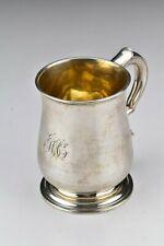 George II Period English Sterling Silver Mug / Cann  with Newcastle Hallmarks