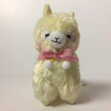 AMUSE Pon Pon Velvet Ribbon Yellow Closed Eye Girl (16cm) Arpakasso Alpaca Plush