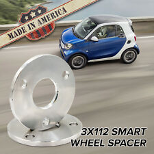 3x112 (Fits 3 Lug Smart)   15mm Thick Billet Wheel Spacers   USA MADE 2pc