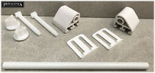 White Plastic Celmac Toilet Seat Hinges Fittings Brackets with Connecting Rod